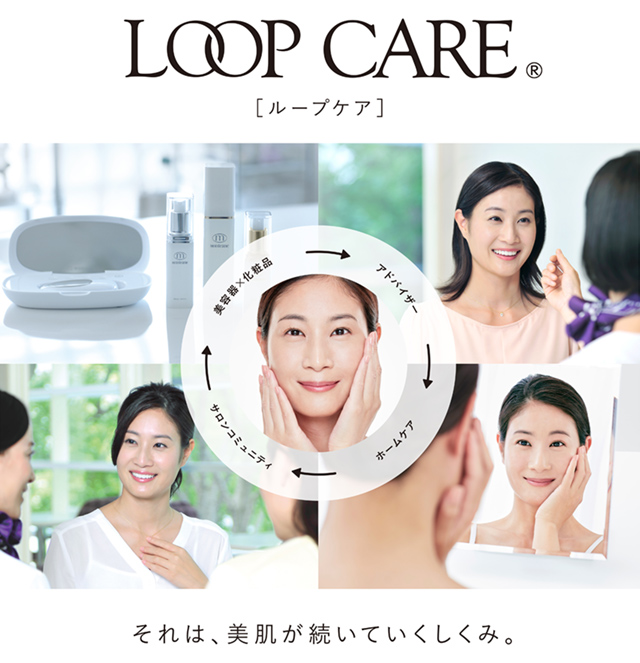 LOOP CARE [ループケア] それは、美肌が続いていくしくみ。